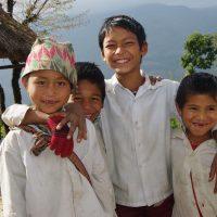Enfants dans les villages
